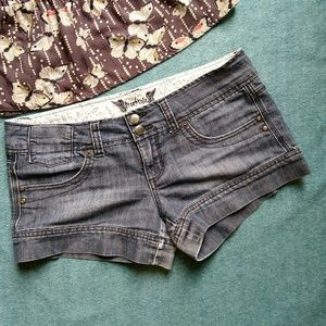 Free Style Revolution Low Rise Jean Shorts